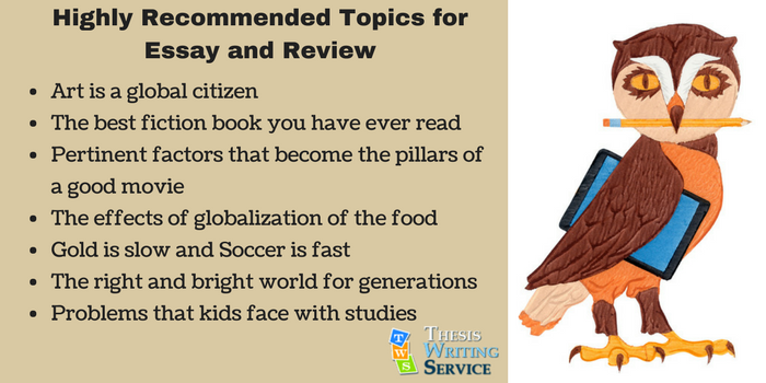 recommended topics for essay and review