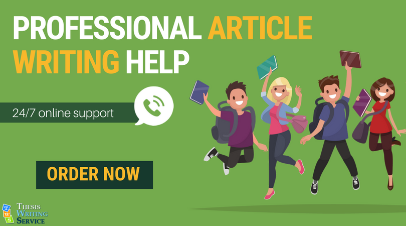 help of professional article writing services